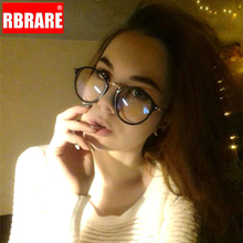 RBRARE Blue Light Glasses Frame Women Computer Spectacles Round Transparent Eyeglasses 2019 Optical Frames Clear