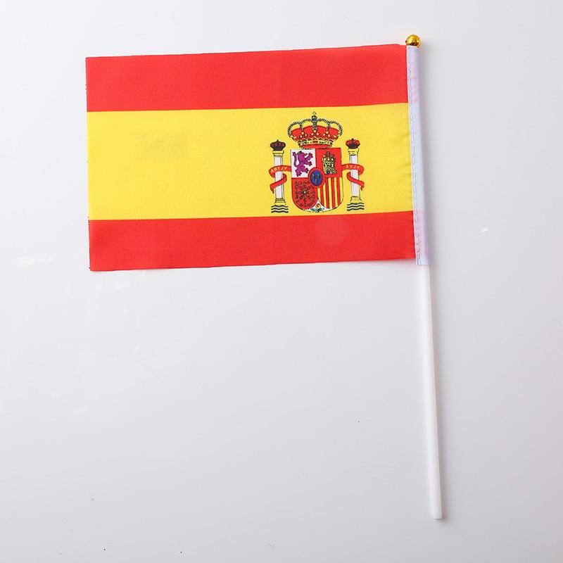 Canadian Flag Brazilian Flag Spanish Flag Italian Flag Print Stripes Fashion 30.5*21*0.5cm Terylene Nylon Nationalflag National - Цвет: Spain