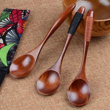 1pcs Wooden Spoon Bamboo Kitchen Cooking Utensil Tool Soup Teaspoon Catering Tableware