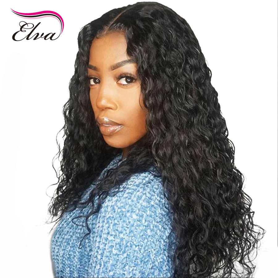 360 Lace Frontal Wig Pre Plucked Natrual Hairline With Baby Hair Brazilian Remy Curly Human Hair Wigs For Black Women Elva Hair