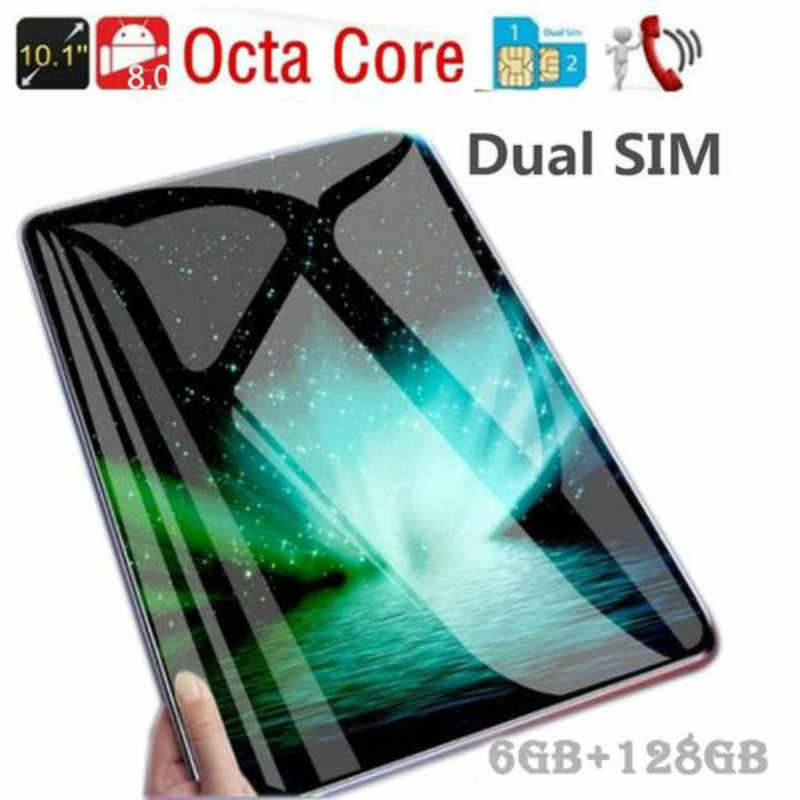 Hot Verkoop 10.1Inch Octa Core 6G + 128G Android 8.1 Wifi Tablet Pc Dual Sim Dual Camera bluetooth 4G Wifi Call Telefoon Tablet