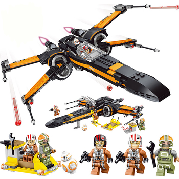 Poe's X-wing Fighter Starwars Compatible Building Blocks Bricks Fighter Assembled Fighter Star Wars X Wing Toys 75102 фото