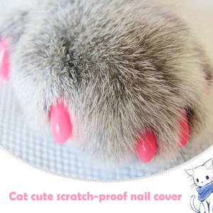 Cover Claw Cat-Fingernail-Cover Pet-Products Cat-Paw Soft Silicone 20pcs with Free-Glue