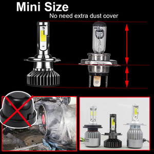 Image 5 - YHKOMS tamaño Mini linterna del coche de H4 H7 LED 3000K 4300K 5000K 6500K 8000K 25000K H1 H8 H9 H11 9005 9006 bombilla LED Luz de niebla Auto 12V 12V