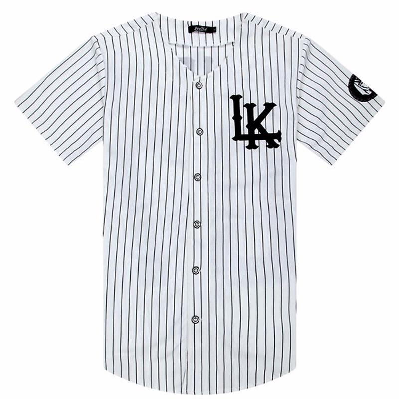2018 2019 Hot Selled Men T shirts Fashion Streetwear Hip Hop Baseball Jersey Striped Shirt Men Clothing Tyga Last Kings Clothes