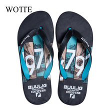 WOTTE Men Summer Mixed Colors Shoes Sandals Male Slipper Indoor Or Outdoor Flip Flops 2020 zapatos hombre
