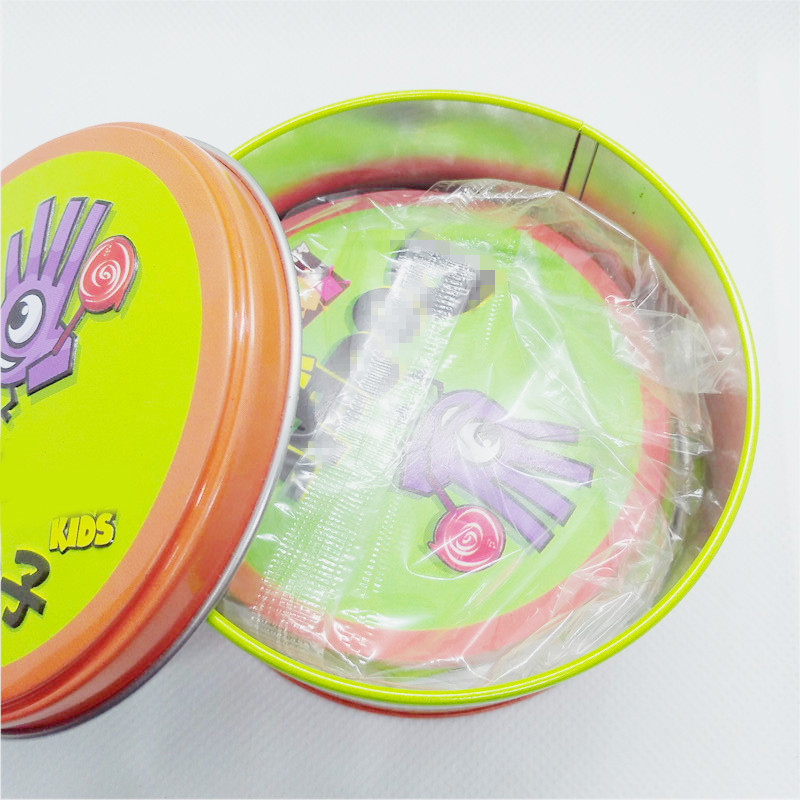 Board Game For Dobbles Kids Spot Cards It Go Camping 7 English Versions Optional, Brand New With Metal Tin Box Card Game