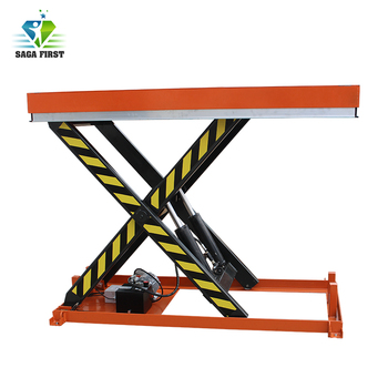 CE 1ton Static Scissor Lift Table for Lifting Cargo