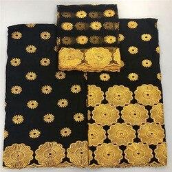 5 + 2 tessuto svizzero del merletto 2019 Dubai in rilievo pesante del ricamo tessuti di pizzo Africano 100% cotone Svizzero del merletto del voile in svizzera 8L0430
