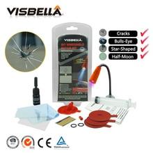 VISBELLA ชุดซ่อมกระจกรถยนต์รถยนต์ DIY ซ่อมหน้าต่างขัดกระจกกระจก Renewal เครื่องมือ Auto Scratch Crack คืน Fix