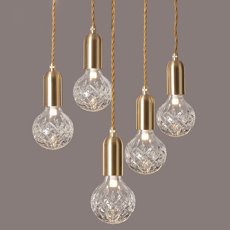 LED Pendant Lights Vintage Loft Style Hanging Lamp Glass Light Nordic Modern Suspension Kitchen Restaurant Lighting Fixtures G9