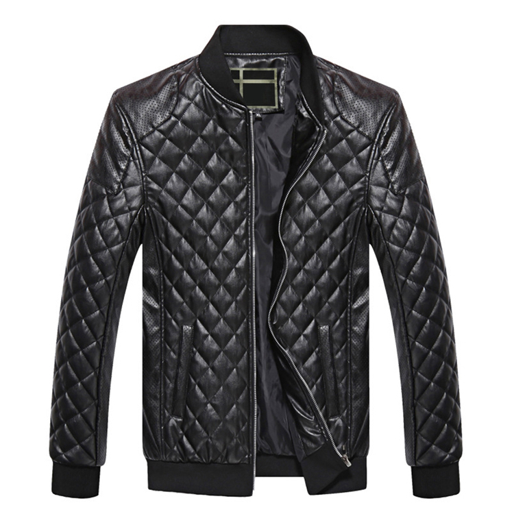 Jackets Men Winter Leather Jacket Coats Casual Pu Leather Thick Warm Parkas Casual Long Sleeve Stand Collar Jacket Outwears Coat