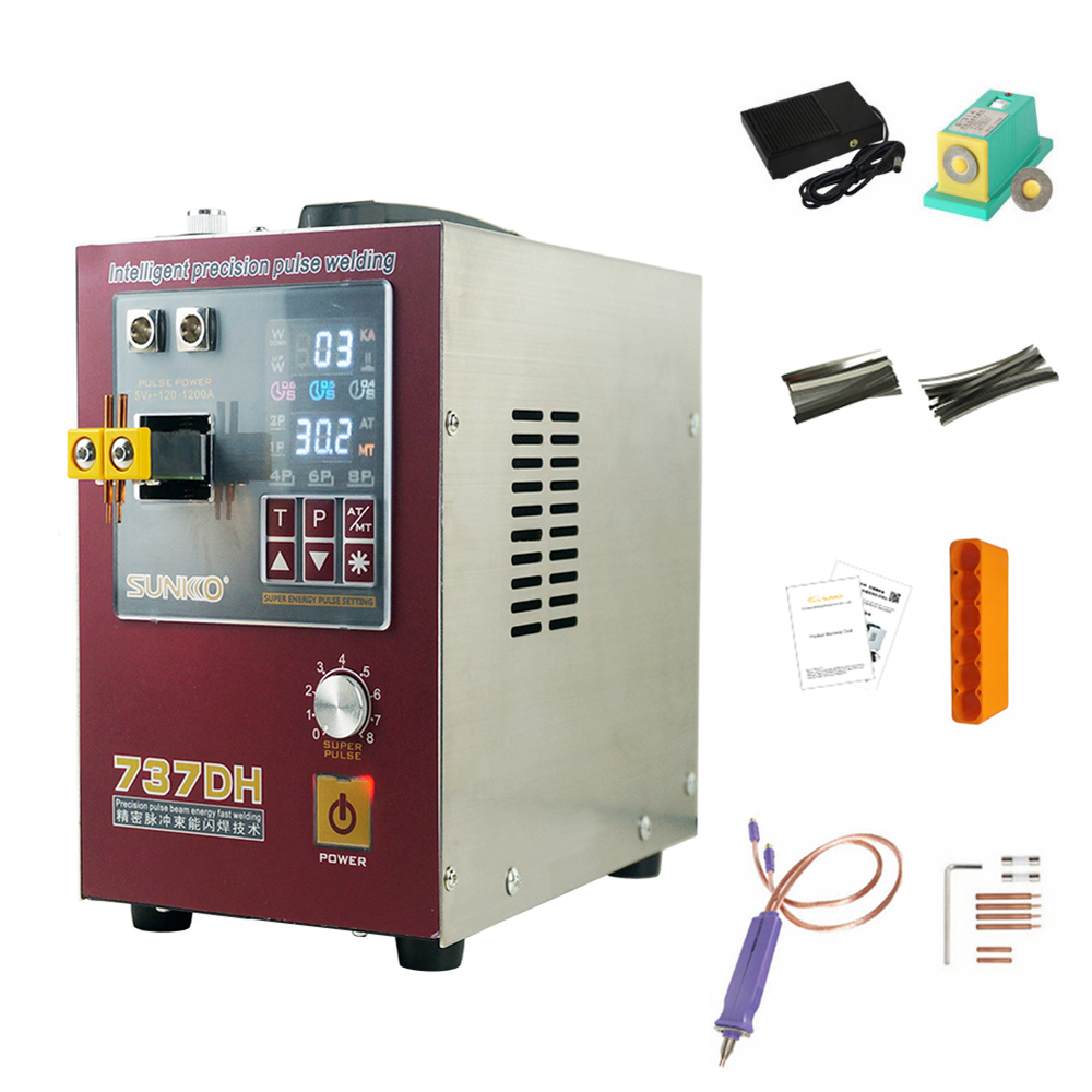 4 3KW high power spot welding machine use for 18650 battery spot welding newly upgraded delayed weld automatic pulse spot welder