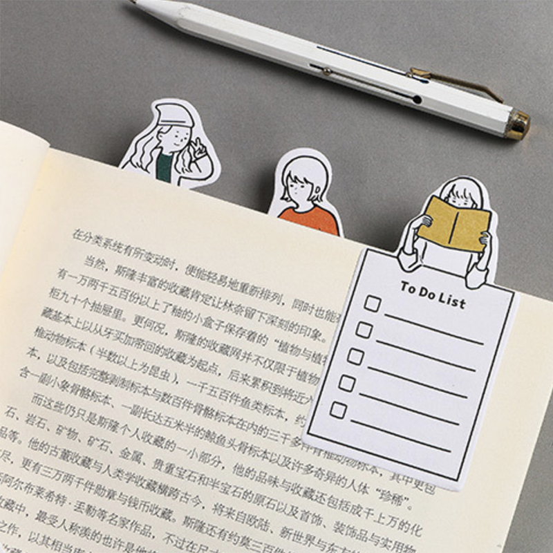 Kawaii Cartoon Memo Pad Cute Weekly/day Planner Creative Post It Sticky Note To Do List Office Decoration Stationery Supplies