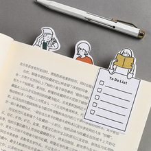 Kawaii Cartoon Memo Pad Cute Weekly/day Planner Creative Post It Sticky Note To Do List Office Decoration Stationery Supplies cute planner sticker weekly monthly work planner post it kawaii notepad school office supplies super sticky pad 60 sheets