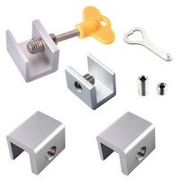 TOP! Sliding Window Locks Stop Aluminum Alloy Door Frame Security Lock with Keys|Door Locks| |  -