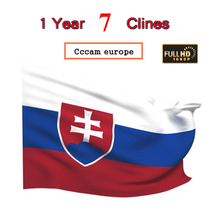 Special for Slovakia Europe HD 2 Year Cccam europeSpain Portugal Germany Poland Satellite tv Receiver 7Clines For DVB-S2 V8 BOX(China)