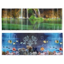 Background-Decoration Sticker Poster Fish-Tank Aquarium Landscape for Wall-Decal Scenery