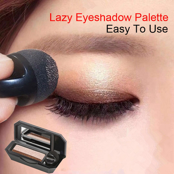 Double Color Lazy Eye Shadow Makeup Palette Glitter Palette Eyeshadow Pallete Waterproof Glitter Eyeshadow Shimmer Cosmetics eyeshadow palette diamond shimmer glitter powder eye shadow palette shiny sequined eyeshadow beauty cosmetic makeup