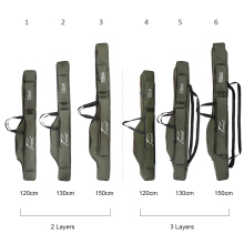 FDDL сумки для рыбалки 2/3 Слои Многофункциональный рыболовная удочка приманка Холст Полюс хранения Чехол 120/130/150 см Карп рыболовные снасти