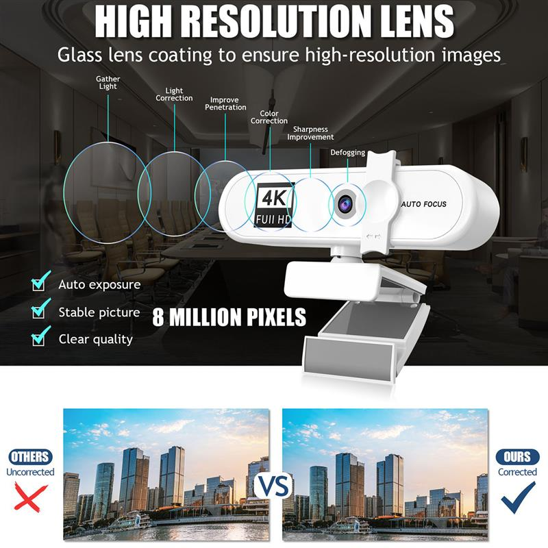 Купить новинка full hd 4k 2k 1080p веб камера 120 градусов автофокус
