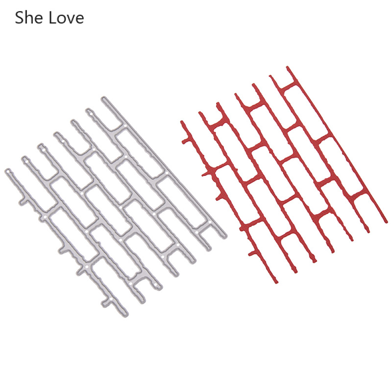 She Love Wall Bricks Metal Cutting Dies For Diy Scrapbooking Making Decorative Embossing Die Stencils Crafts Home Decor
