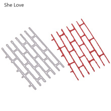 She Love Wall Bricks Metal Cutting Dies Stamps For Diy Scrap