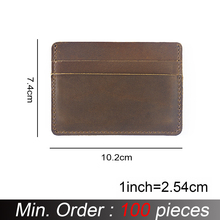Id-Card-Holders Business Wallet Crazy Credit Customized Vintage Wholesale Men 100pieces/Lot