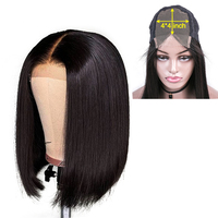 Haever 4x4 Lace Closure Wig Straight Human Hair Wigs For Black Women150% Density Short Bob Brazilian Hair Wigs With Baby Hair