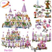 731 шт романтическая Принцесса замок строительные блоки совместимы с Legoed девушка игрушки подарки дети сборка кирпич друг модель игрушки