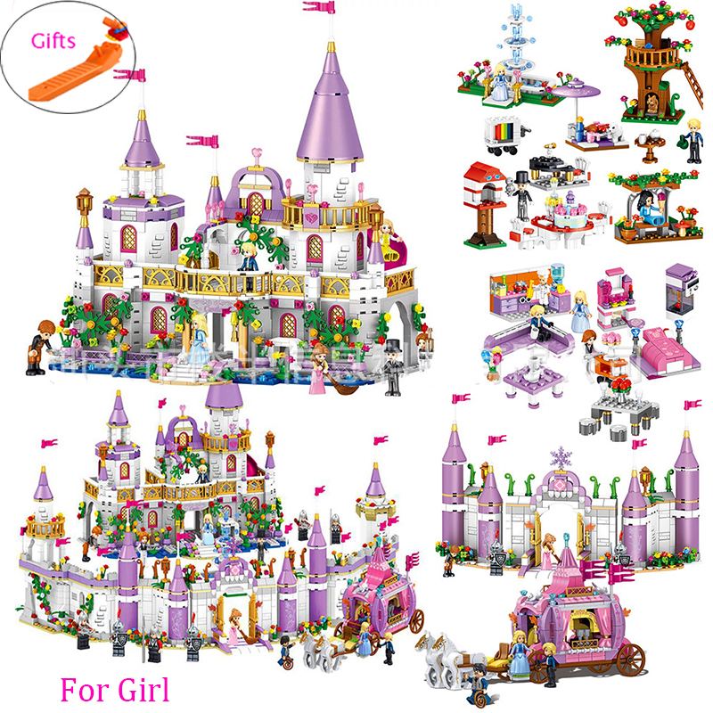731pcs Romantic Princess Castle Building Blocks Compatible With Legoed Girl Toys Gifts Kids Assembling Brick Friend Model Toys