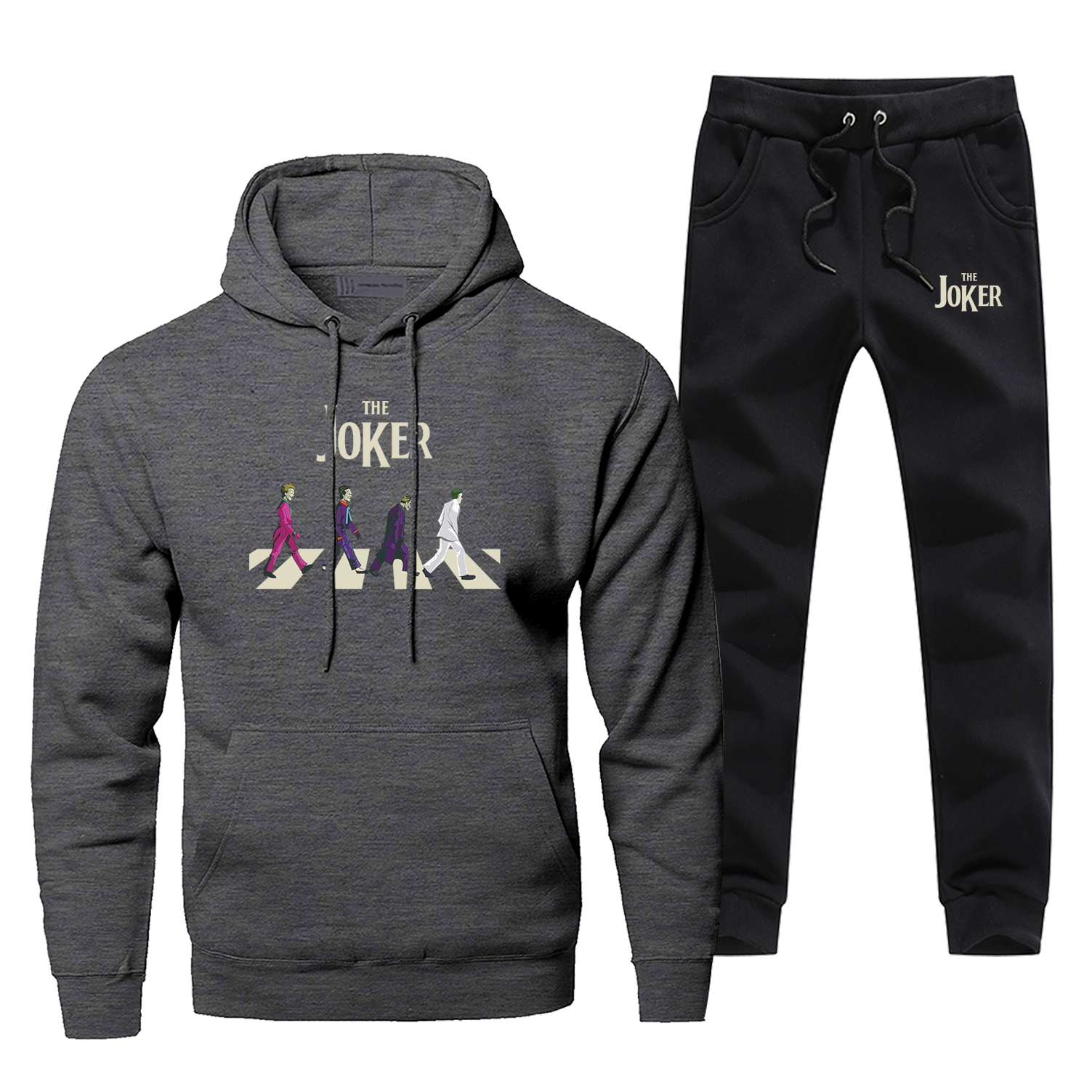 Mens Hoodies Jokers Sets Two Piece Pant Hoodie Badman Joker Sweatshirt Sweatpants Streetwear Sportswear Fun Cartoon Sweatshirts