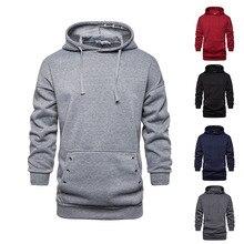 OLOME Men Patchwork Hooded Sweatshirts Autumn Thick Oversize Hoodie Tops Fashion Trend Sweatshirt Brand New Plus Size 2019