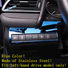Lapetus Auto Styling Head Lights Headlights Lamp Switch Button Frame Cover Trim Fit For Toyota Camry 2018 - 2020 Stainless Steel lapetus auto styling matte carbon fiber style head headlamp light lamp switch button cover trim fit for toyota camry 2018 2019