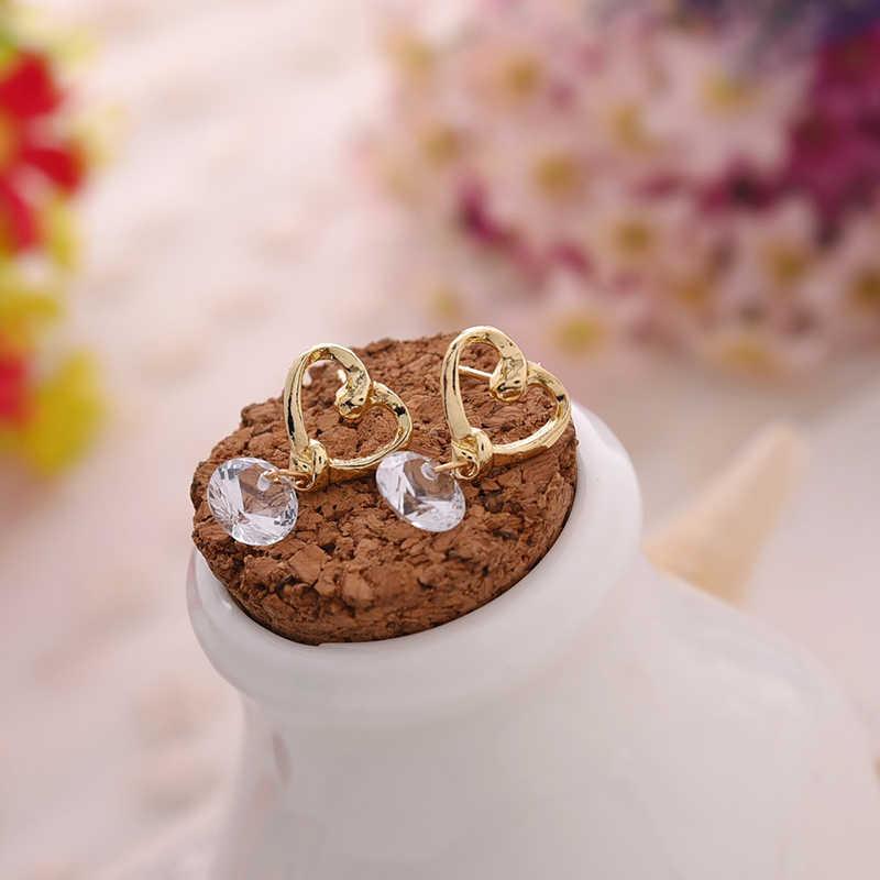 Carter lisa 2019 nova moda declaração coração balançar brincos de cristal elegante brincos para o casamento feminino charme orelha jóias