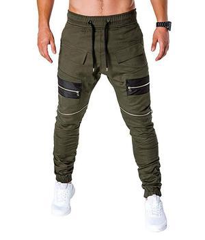 MARKA KRALI-Pantalones para Hombre, ropa informal estilo Hip Hop, Cargo, Pantalones bombachos, Steampunk, para correr 1