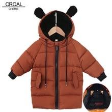 CROAL CHERIE Kids Boys Jackets Baby Girls Fur Coat Children Winter Outerwear & Coats FLeece Girls Clothes Bear Ear Winter Parkas
