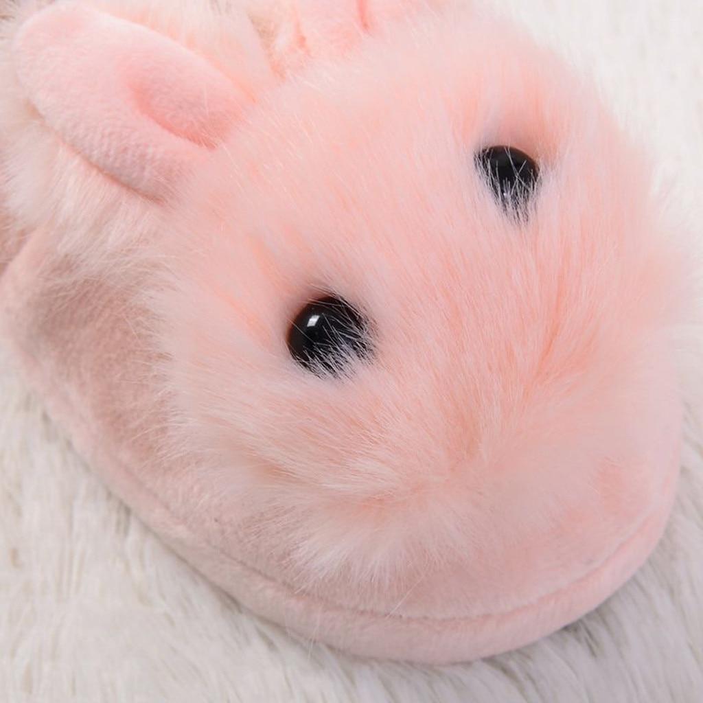 H08b025ec455543cea7716f9a33cb05a6H Sapatos para crianças de algodão, sapatos para crianças meninos e meninas de outono, chinelos fofos com orelhas de coelho, espessamento de bola, sapatos internos