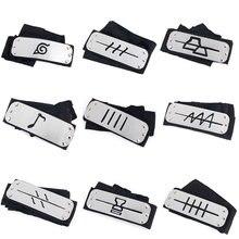 Acessórios de cosplay rebelde bandana guarda anime cosplay decoração adereços uchiha ninja guerreiro cinto flapper headwear