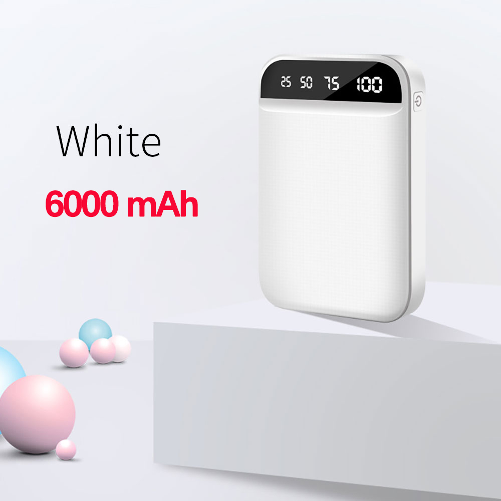 6000mAh White