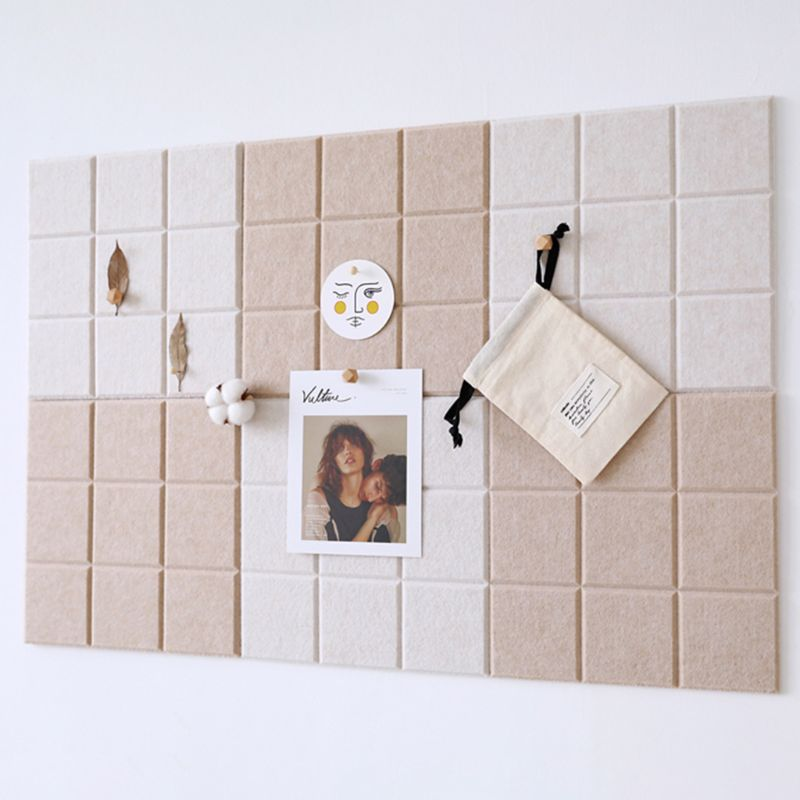 Nordic Style Felt Background Letter Note Board Photo Wall Household Message Display Schedule Board Office Home Decoration C26