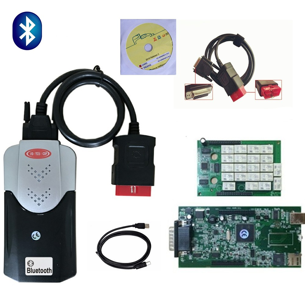 New Vci Tcs Cdp Pro For Delphis Vd Ds150e Cdp Obd Obdii Obd2 2015R3 Keygen Car Diagnostic Tools Code Reader For Autocomes