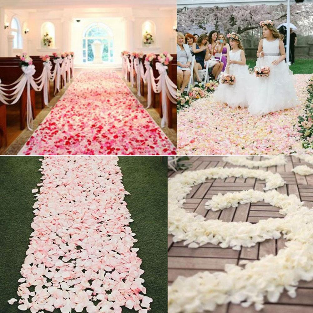 USA seller 100 pcs rose silk  flower petals wedding party Valentine/'s Day