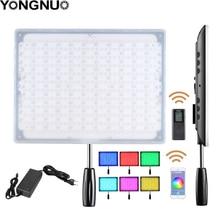 YONGNUO YN600 RGB رقيقة جدا فيديو LED فيديو/إضاءة صور مع درجة حرارة اللون قابل للتعديل 3200 K 5500 K لكاميرا كانون نيكون