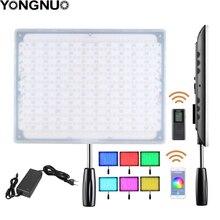 YONGNUO YN600 RGB Ultra ince Video LED Video/fotoğraf ışığı ile ayarlanabilir renk sıcaklığı 3200 K 5500 K canon nikon kamera