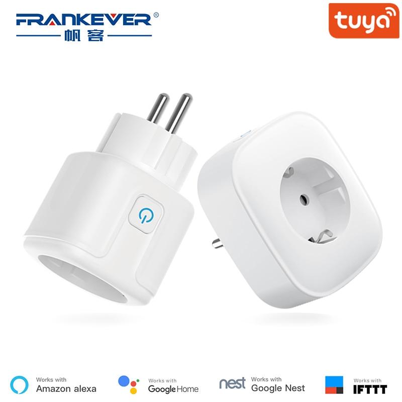 Prise intelligente FrankEver EU avec protection contre les surtensions 10A 16A prise Wifi commande vocale travail avec Alexa Google Home