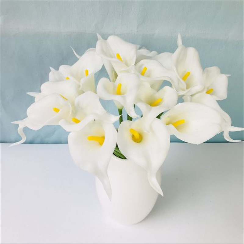 1PC PU Mini Tulips Artificial Flowers For Home And Wedding Decoration Flowers 32