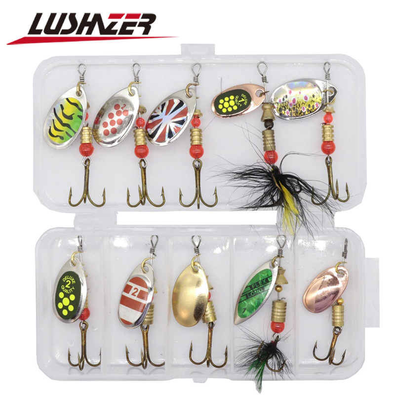 20PCS 3G Colorful Metal Pattern Fishing Sequins Fishing Baits Hard Lures Box Set