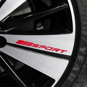 Uniwersalny styl naklejki samochodowe Auto samochód DIY ze stopu sporty wyścigowe naklejki 4 sztuk naklejka na koło akcesoria samochodowe do stylizacji
