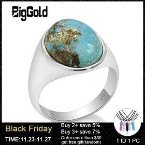 Image 1 - Prawdziwe 925 srebro pierścionek dla człowieka z niebieski kamień naturalny Vintage eleganckie pierścionki mężczyzna kobiet Unisex turecki ręcznie robiona biżuteria